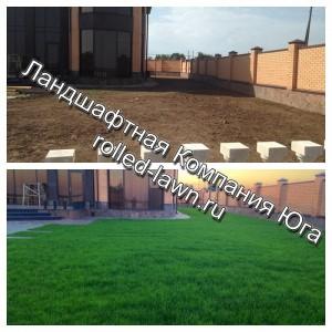 Укладка рулонного газона в Волгограде